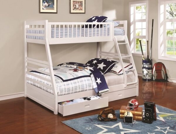 Twin Over Fully Metal Space Saving Bunk Bed for Home
