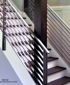 Stainless Steel Staircase Railing Design in Bangladesh